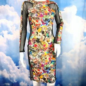 Dresses & Skirts - SOLD ‼️ BodyCon Illusion Silhouette Dress Photo